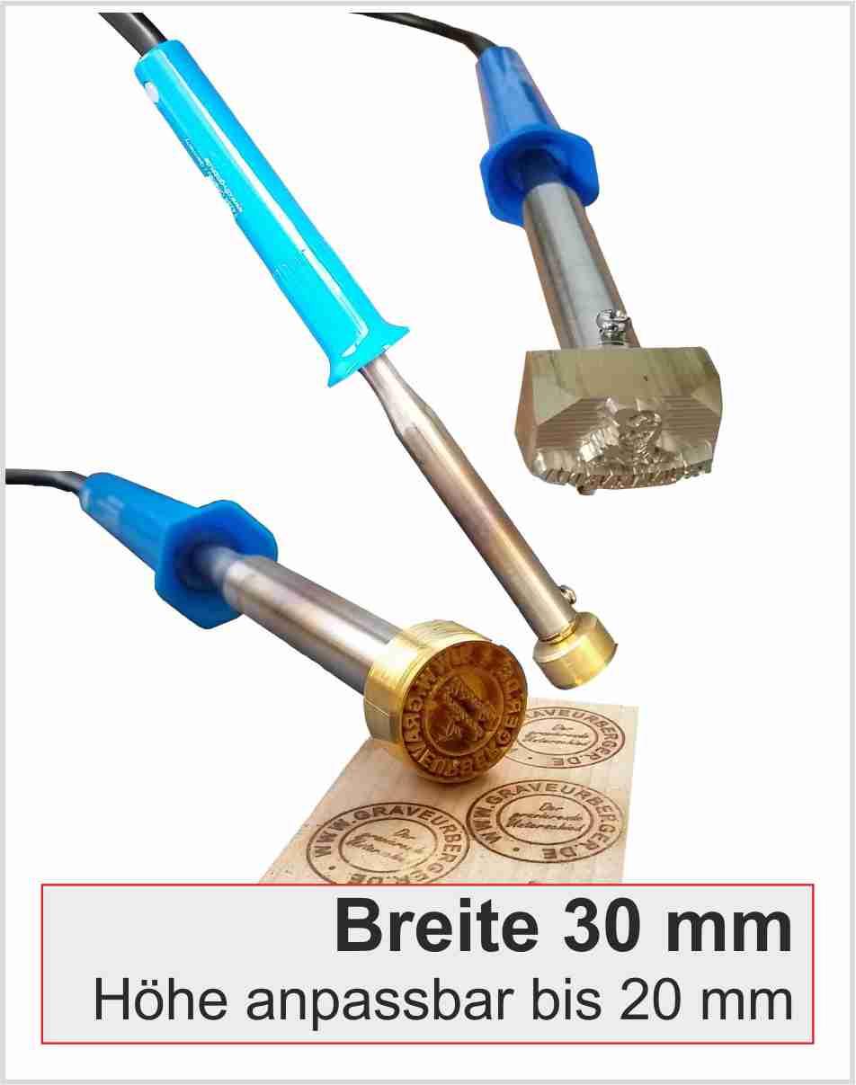 Brennstempel elektrisch | Breite 30mm | 100 Watt
