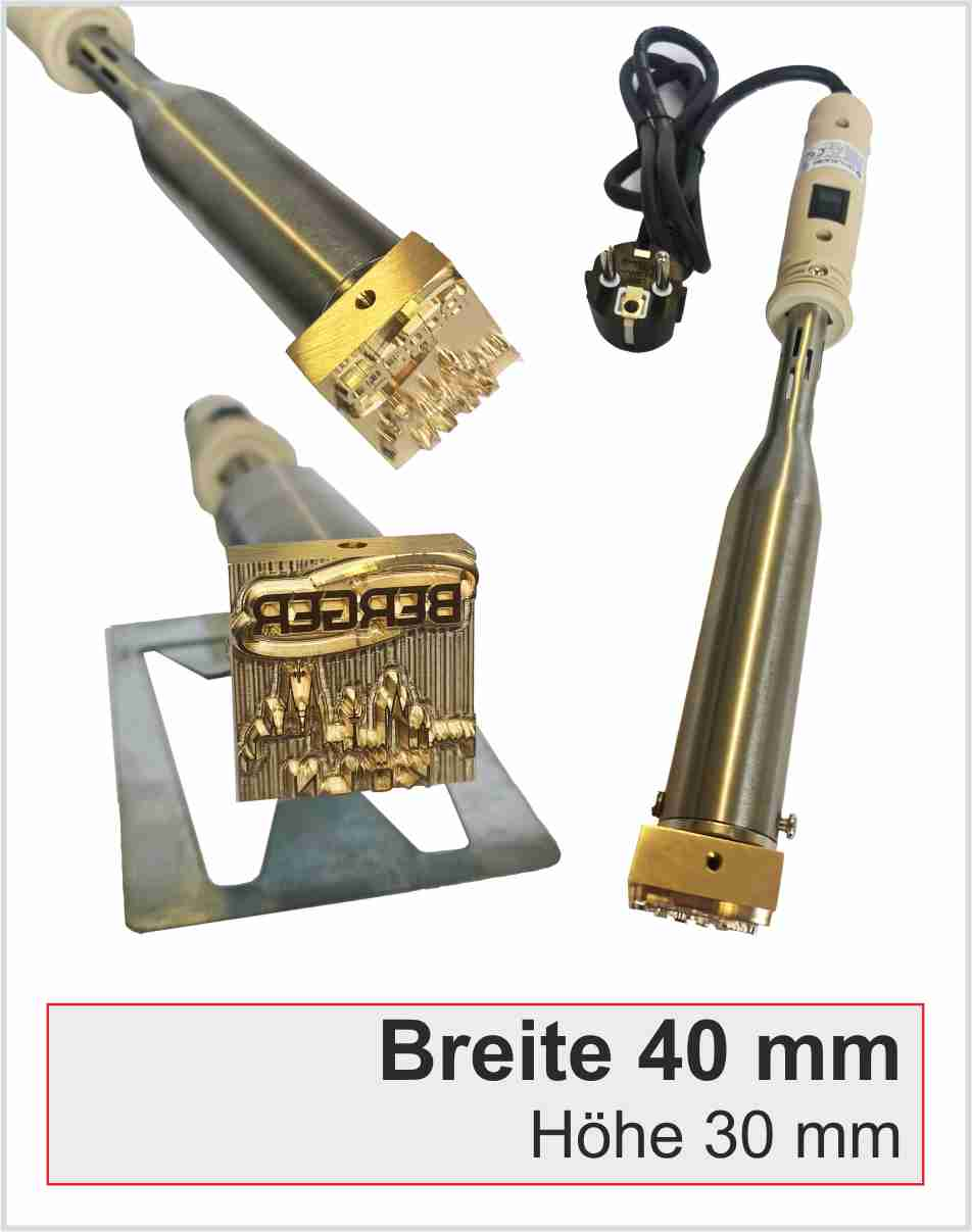 Brennstempel elektrisch | Breite 40mm | 300 Watt