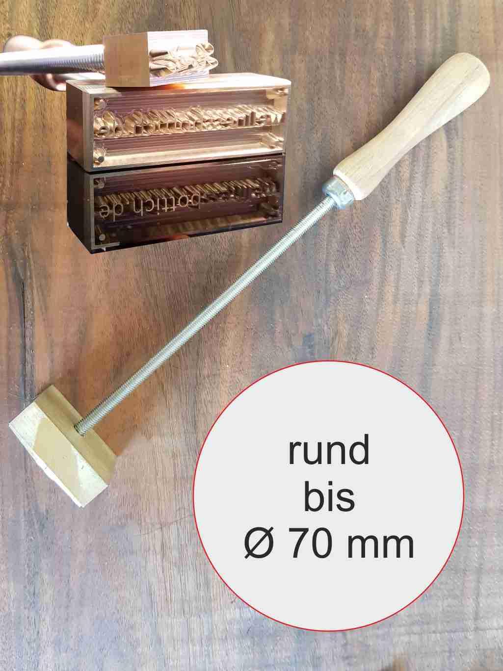 Brandstempel manuell rund | bis max 70 mm