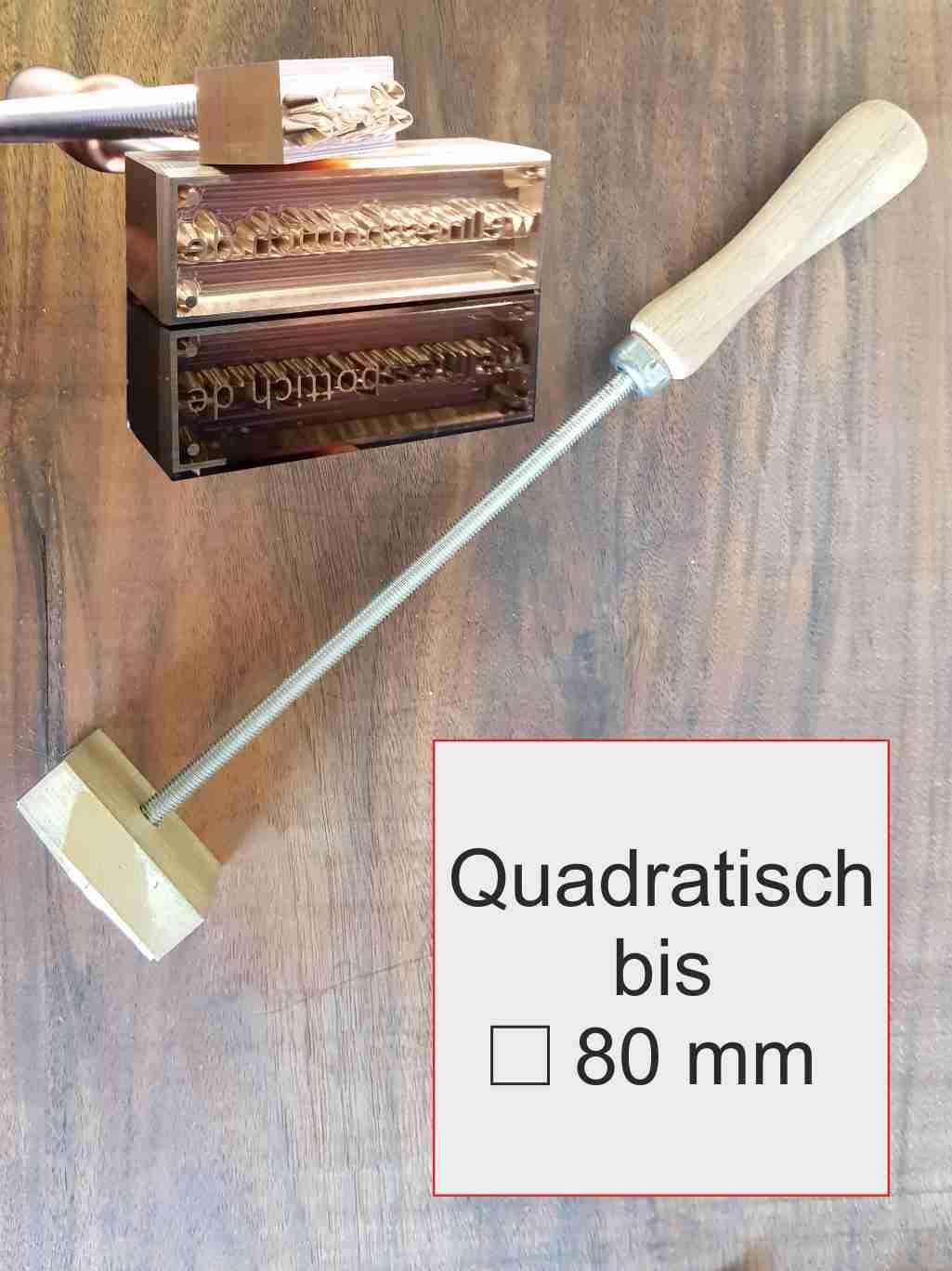 Brandstempel manuell quadratisch | max 80 mm