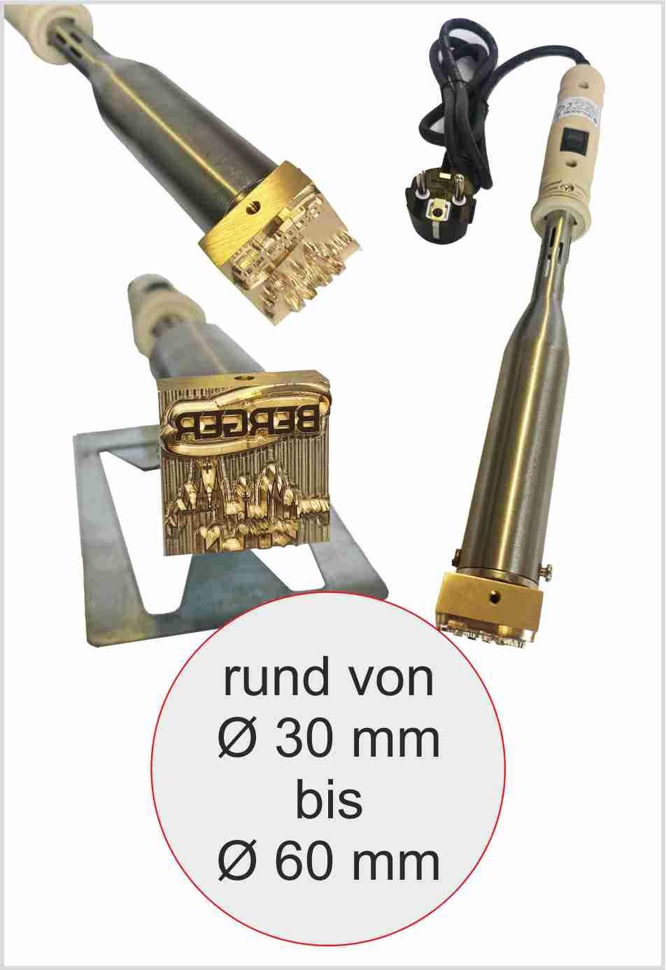 Brennstempel elektrisch rund | max 60mm | 300 Watt