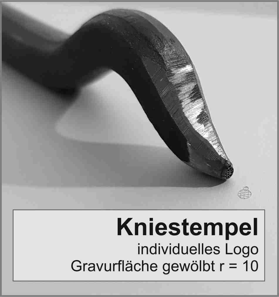 Kniestempel individuell | Gravurfläche gewölbt