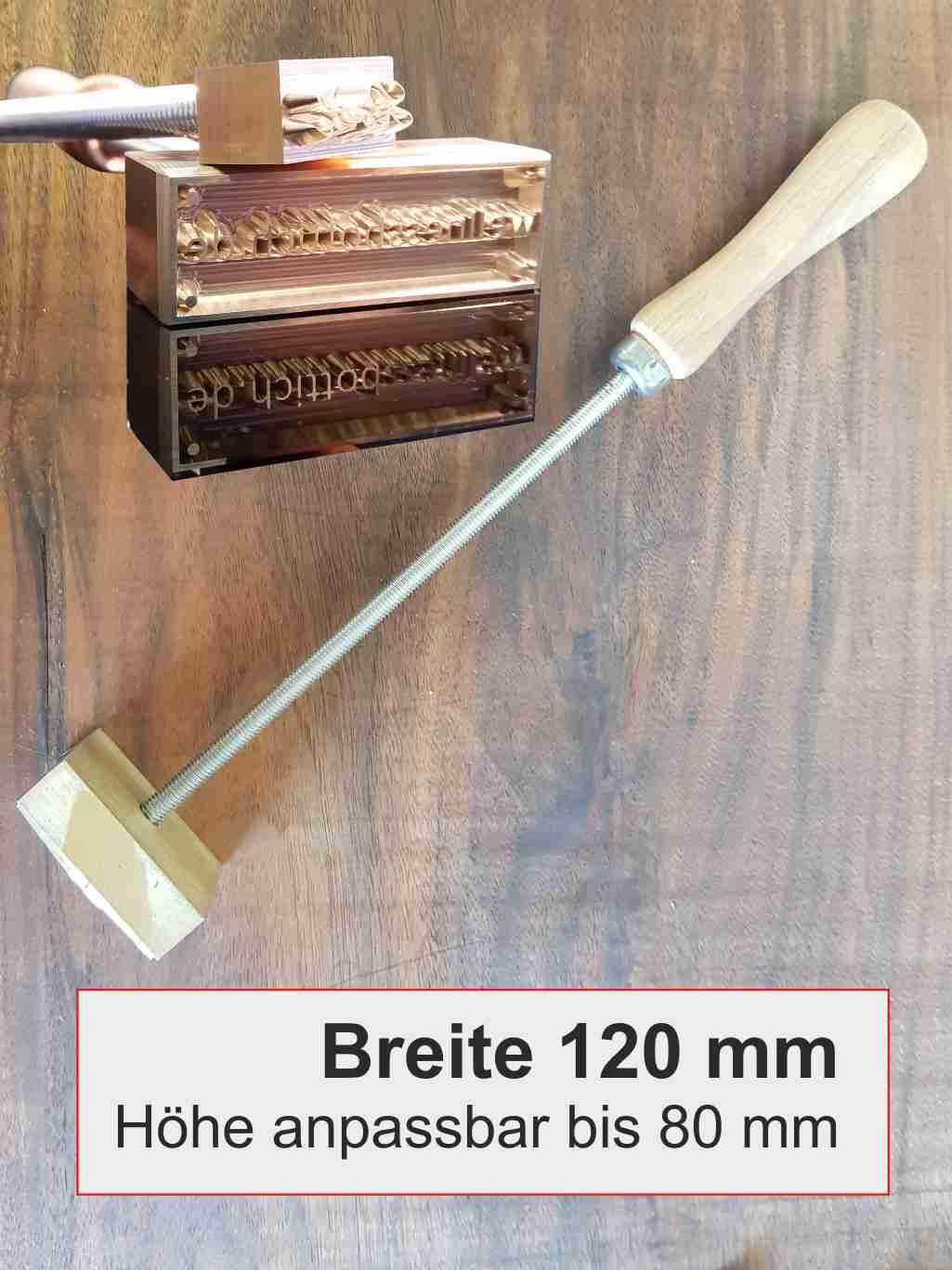 Brandstempel manuell | Breite 120 mm