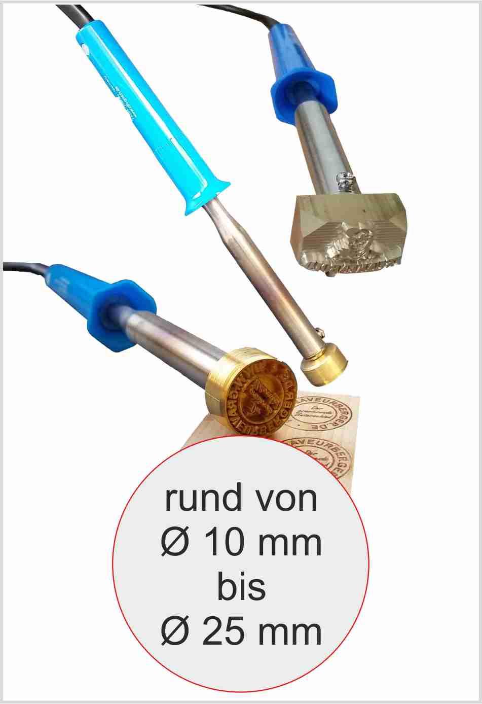 Brennstempel elektrisch rund | max 25 mm | 100 Watt