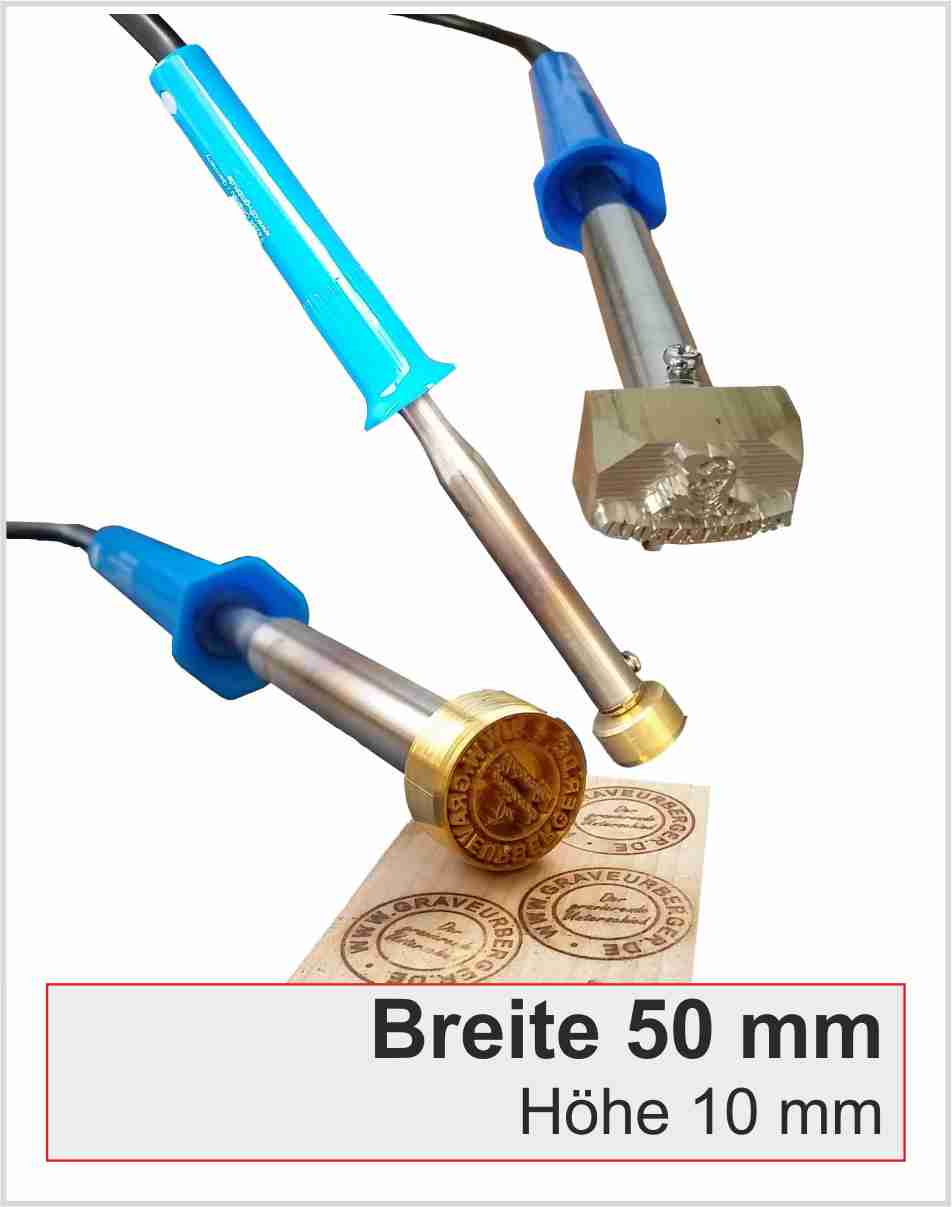 Brennstempel elektrisch | Breite 50 | 100 Watt