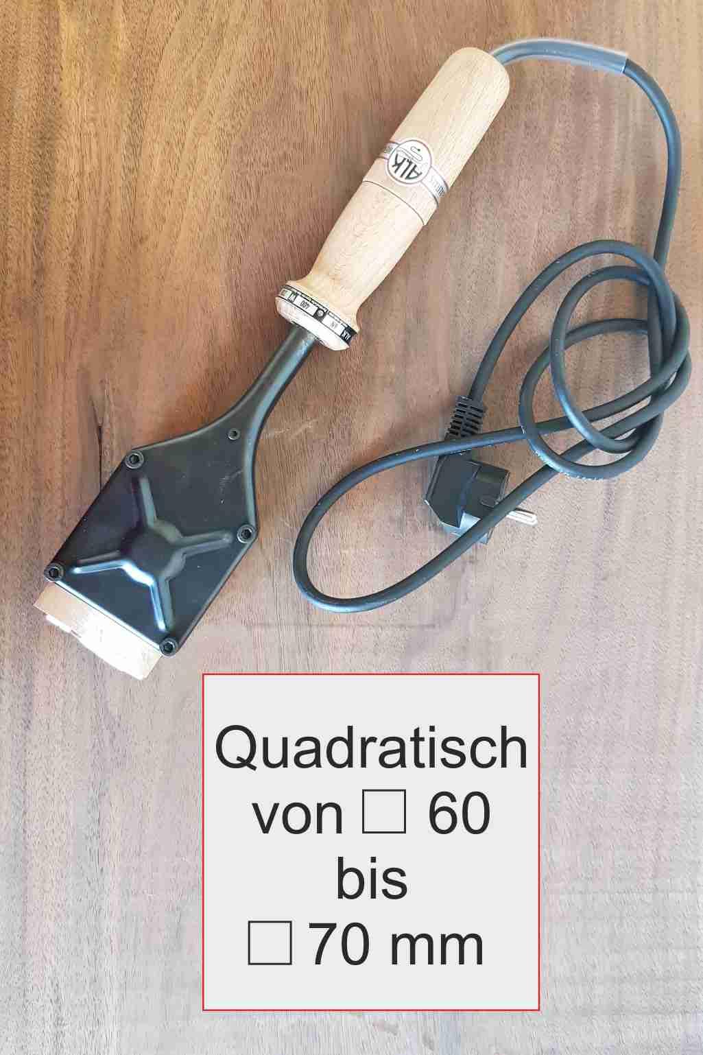 ALK 6 Brennstempel | quadratisch max 70mm
